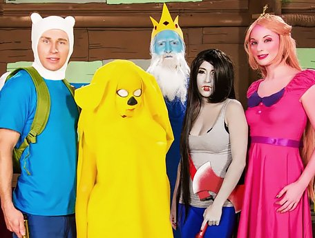 Watch Adventure Time with Finn and Jake XXX Trash Freak Parody video