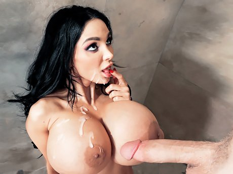 Watch Angry Boy fucks his new stepmother Amy Anderssen with mega big boobs in the shower video