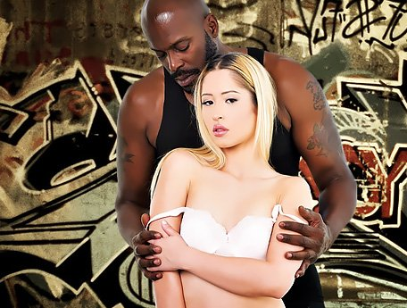 Watch Interracial porn. Big rough black guy and timid shy Euro babe Goldie Rush video