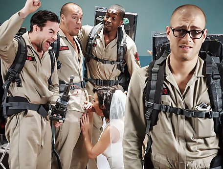 Watch Ghostbusters XXX Part 3. Bride's ghost and four big fleshy guns video