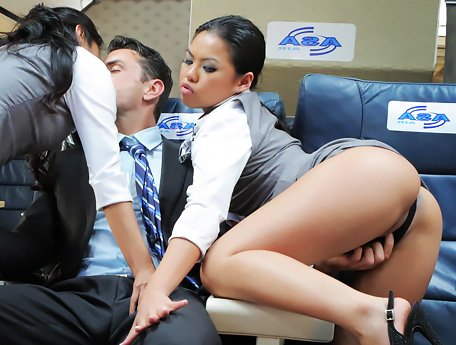 Watch Japanese Airlines. Obedient obliging asian stewardesses can do everything for you video