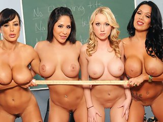 Watch Lisa Ann and Sienna West - Student's orgy in high school video