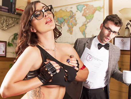 Watch Lustful bad girl Destiny Dixon seduces her adult teacher in classroom video
