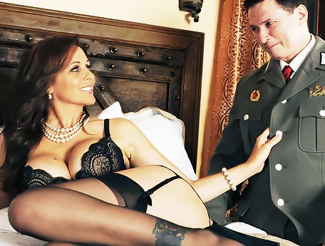 Watch Soviet soldier interrogates mature American spy Julia Ann in her room video