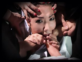 Watch Triple trouble with strap-on for the Japanese bandit London Keyes video